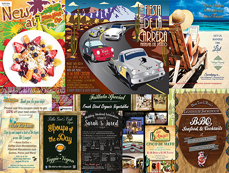 Graphic design sample - Awarding winning posters, flyers, art